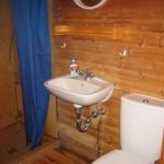 WC ásamt sturtu